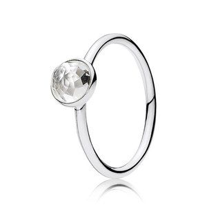 🍓Pandora April Birthstone Droplet Ring